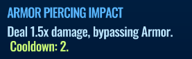 Jurassic World Alive Armor Piercing Impact move description