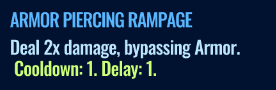 Jurassic World Alive Armor Piercing Rampage move description