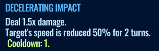 Jurassic World Alive Decelerating Impact move description