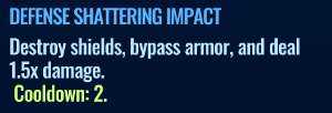 Jurassic World Alive Defense Shattering Impact move description