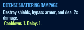 Jurassic World Alive Defense Shattering Rampage move description