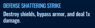 Jurassic World Alive Defense Shattering Strike move description