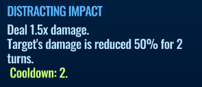 Jurassic World Alive Distracting Impact move description