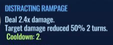 Jurassic World Alive Distracting Rampage move description