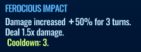 Jurassic World Alive Ferocious Impact move description