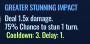 Jurassic World Alive Greater Stunning Impact move description