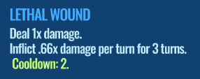 Jurassic World Alive Lethal Wound move description