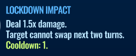 Jurassic World Alive Lockdown Impact move description