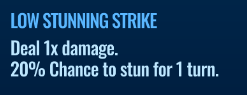 Jurassic World Alive Low Stunning Strike move description