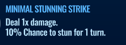 Jurassic World Alive Minimal Stunning Strike move description