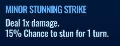 Jurassic World Alive Minor Stunning Strike move description