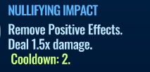 Jurassic World Alive Nullifying Impact move description