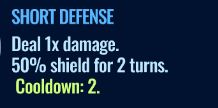 Jurassic World Alive Short Defense move description
