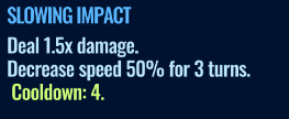 Jurassic World Alive Slowing Impact move description